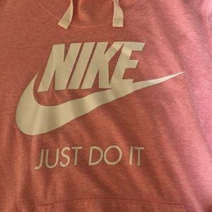 Nike Pink Logo Hoodie size S